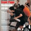 Ivana Keser Battista: Local-Global art newspapers (1993-2003) Front page, supplement in Delo newspaper, Ljubljana, 2003
